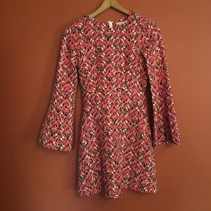H&M 60's mod bell sleeve mini dress size 6